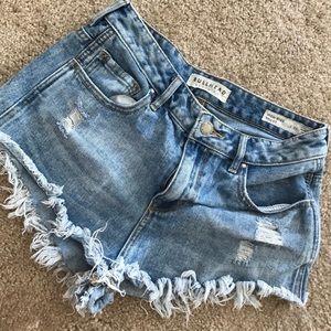 Bullhead High Rose Distressed Shorts